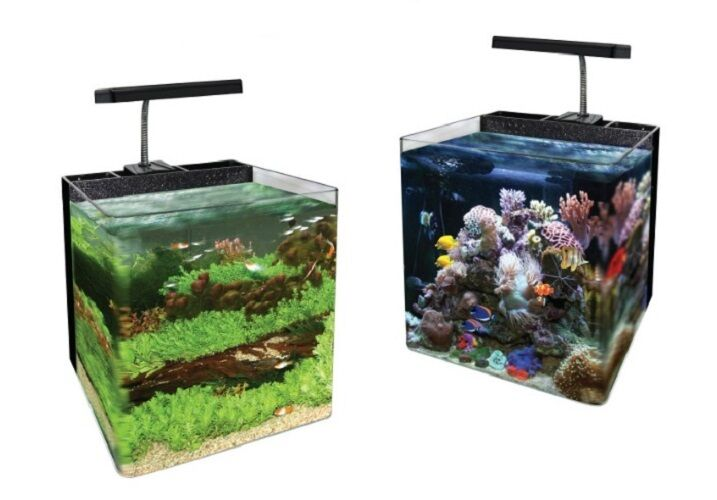 Glass panoramic nano space aquarium fish tank 16l 24l 34l for Fish tanks for sale ebay
