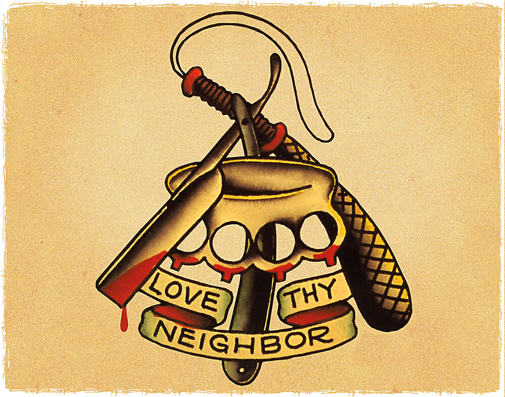 Love neighbor razor knuckles sailor jerry inspired for Sailer jerry tattoo
