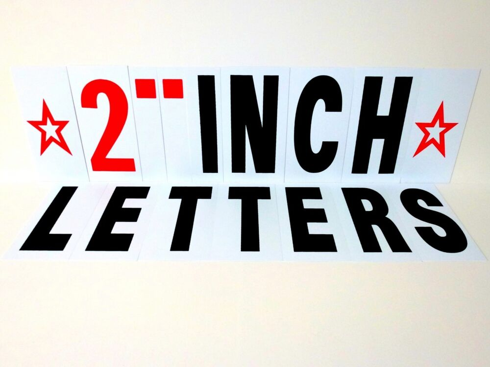 2 inch changeable sign letters for outdoor indoor sign ebay for 1 inch letters