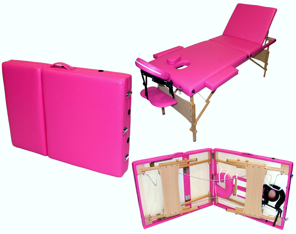 3 way section foldable folding portable beauty therapy for Foldable beauty table