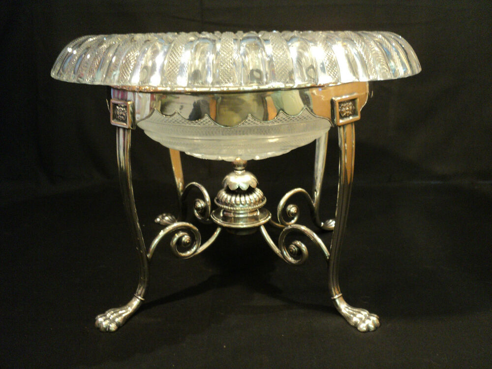 Stunning huge th c cut glass centerpiece bowl on