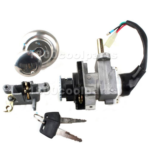 ignition switch key set kit for scooter 50cc 150cc gy6. Black Bedroom Furniture Sets. Home Design Ideas
