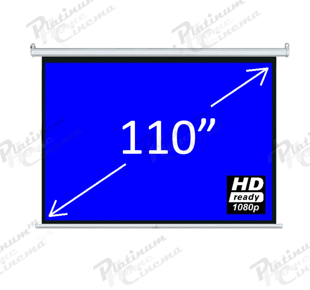 New 110 Electric Motorized Projection Hd Screen Remote
