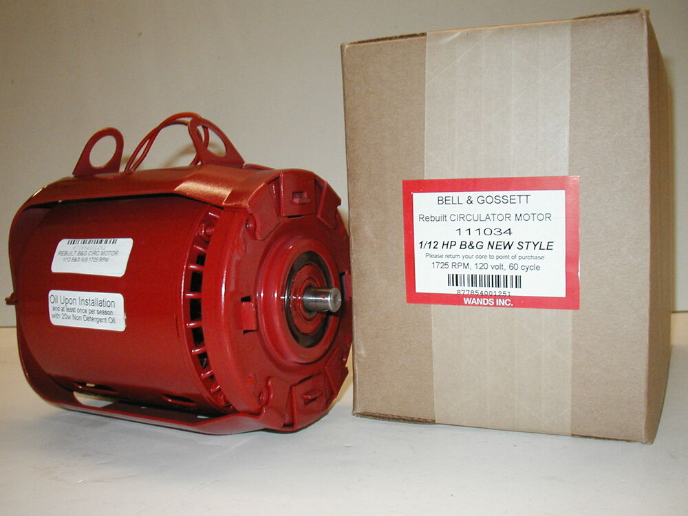 bell gossett series 100 bell gossett 1 12 hp circulator motor series 100 111034 and 106189