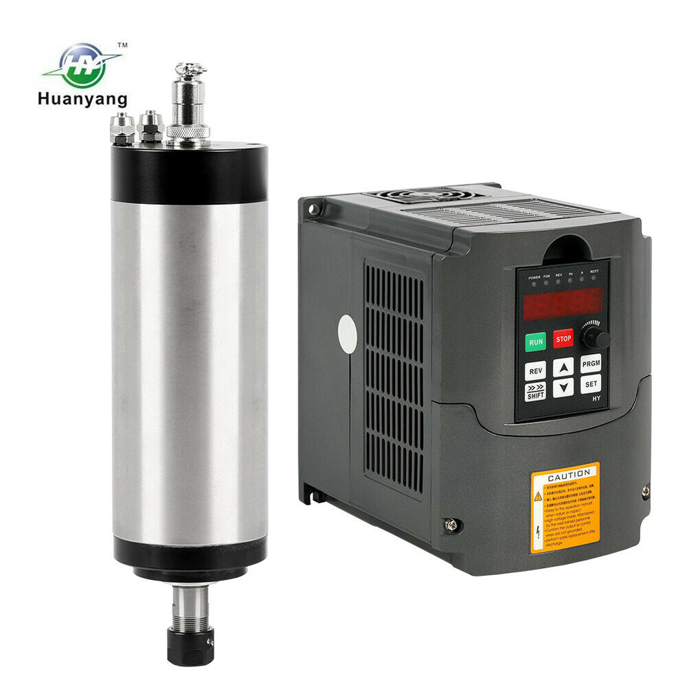 220v Water Cooled Motor Spindle Er20 2 2kw Four Bearing Inverter Drive Vfd Cnc Ebay
