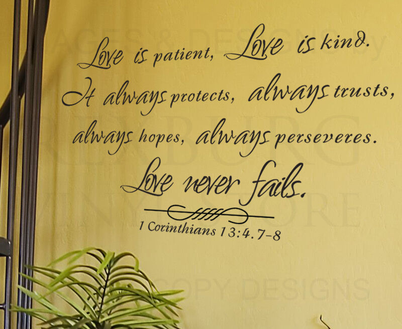Wall Decal Sticker Quote Vinyl Large Love Is Patient Kind