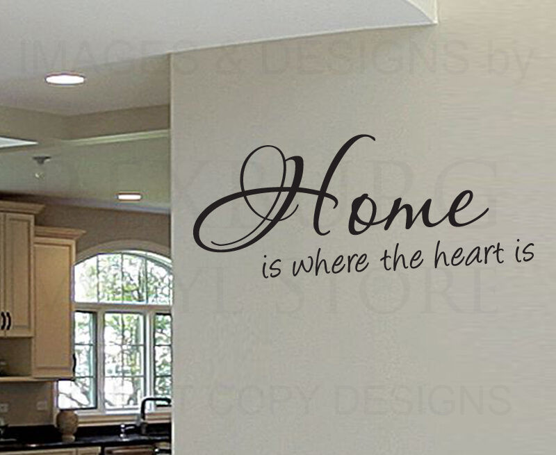Wall Decal Quote Sticker Vinyl Art Lettering Home Is Where
