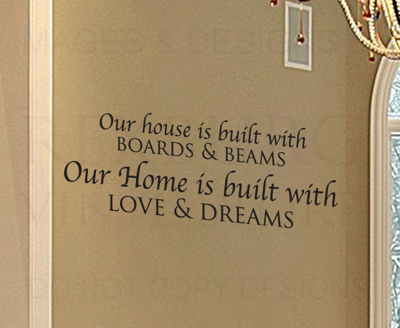 Wall Decal Quote Sticker Vinyl Art Letter Our House Is