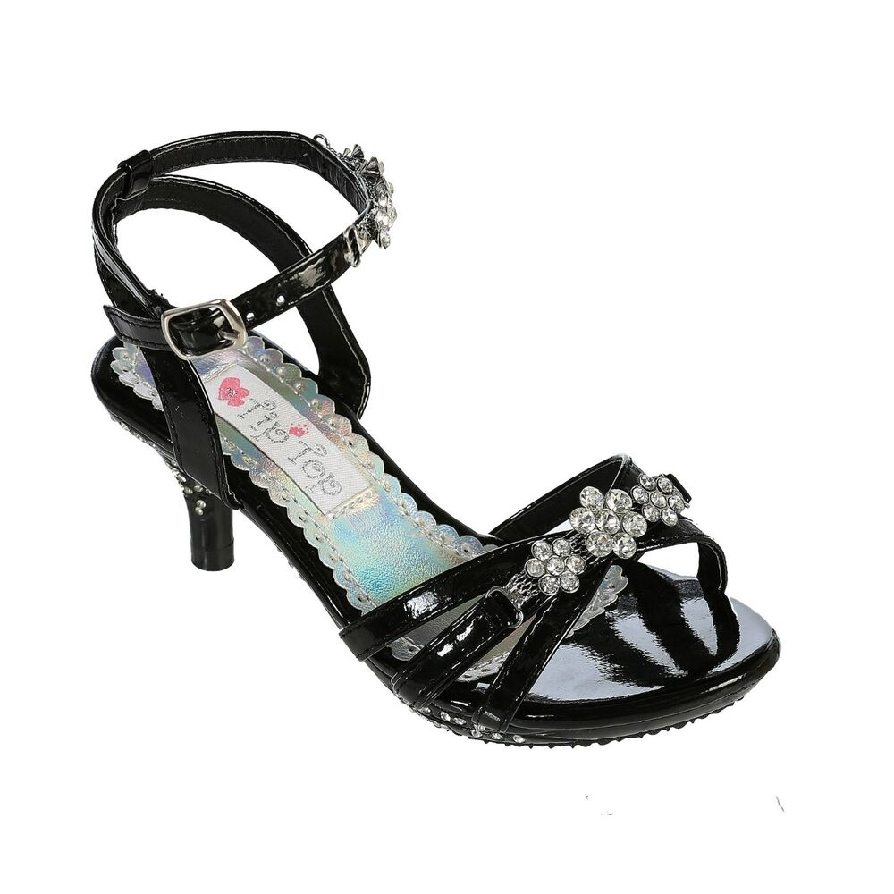 Girls Silver Pageant Shoes