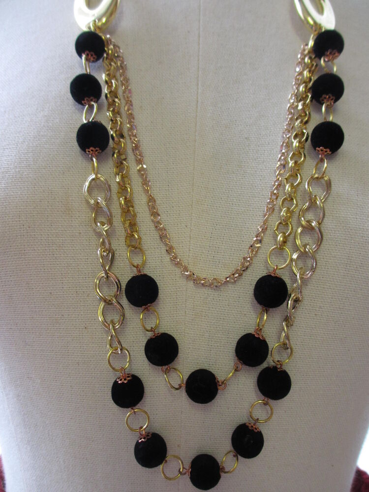 Beautiful 2 3 Tier Drop Beaded Necklaces Gold Amp Silver