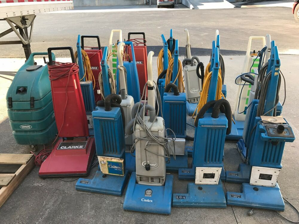 Lot Of 21 Electric Commercial Carpet Vacuums Some Wide Area Format For Parts Ebay