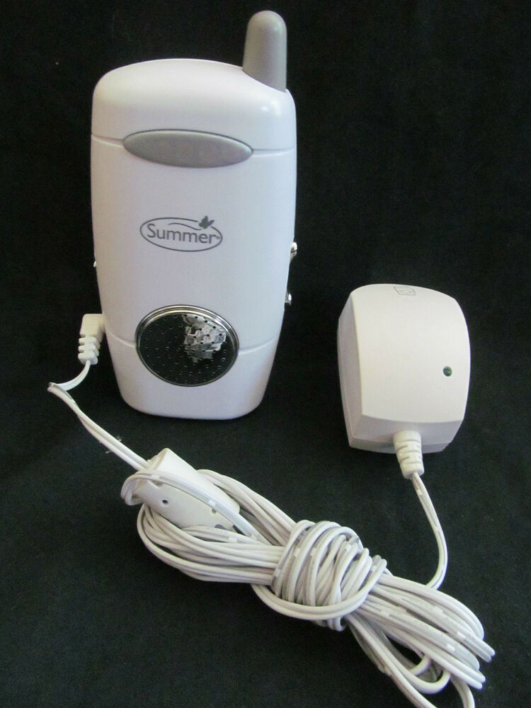 summer infant extra baby monitor white silver power cord included ebay. Black Bedroom Furniture Sets. Home Design Ideas