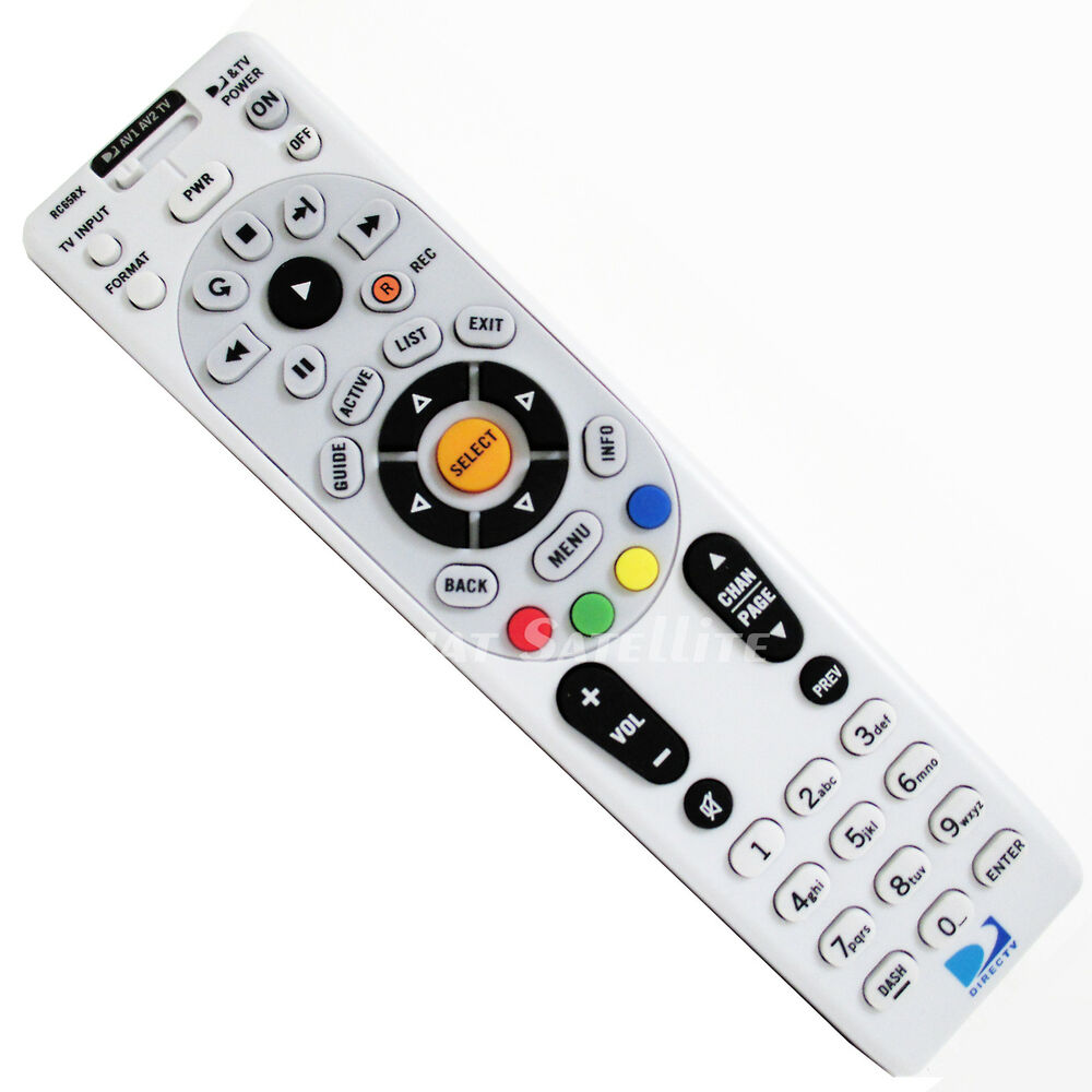 directv radio frequency universal remote control rf ir satellite tv rc66rx rfxmp ebay. Black Bedroom Furniture Sets. Home Design Ideas