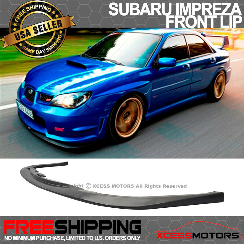 for 06 07 subaru impreza wrx sti front bumper lip spoiler. Black Bedroom Furniture Sets. Home Design Ideas