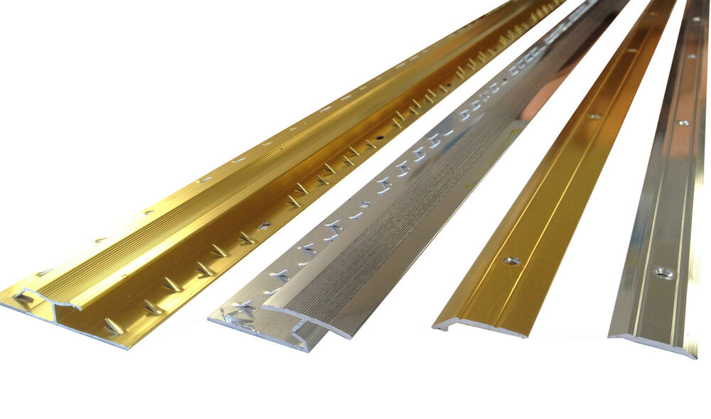 ALL Carpet Door Bars Metal Plates Threshold - 3ft in Silver or Brass : eBay