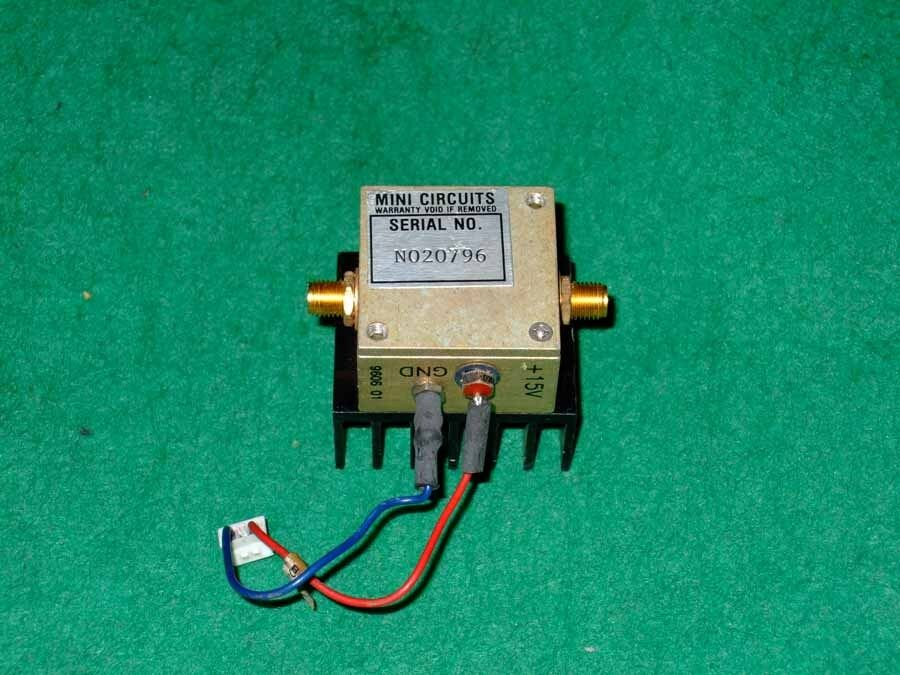 mini circuits zfl 1000vh 10mhz to 1000mhz linear rf amplifier 20db gain working ebay. Black Bedroom Furniture Sets. Home Design Ideas