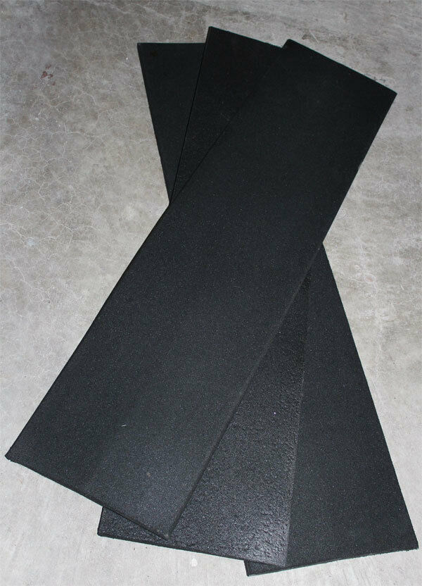 Gym Rubber Flooring Access Edging Ramps Pure Black