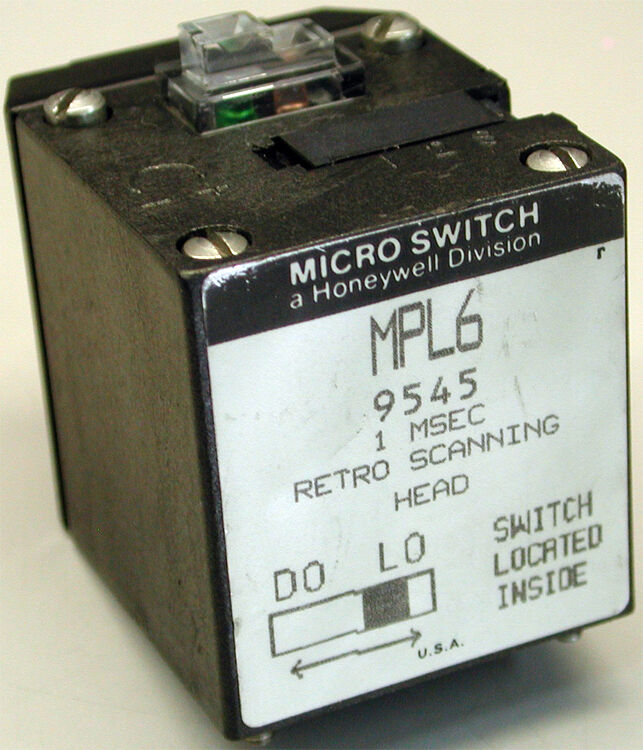 honeywell micro switch photoelectric head 1ms retro scanning mpl6 ebay. Black Bedroom Furniture Sets. Home Design Ideas