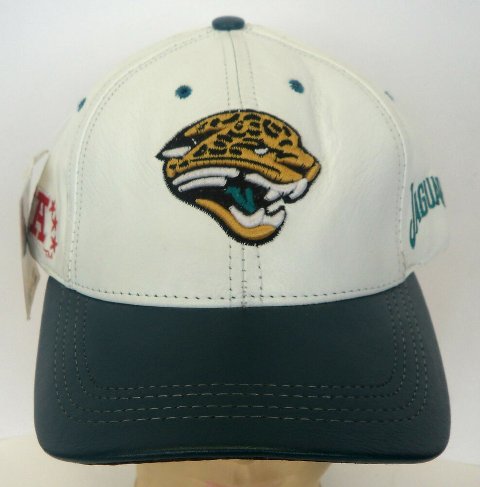 nfl jacksonville jaguars leather logo athletic cap hat. Black Bedroom Furniture Sets. Home Design Ideas