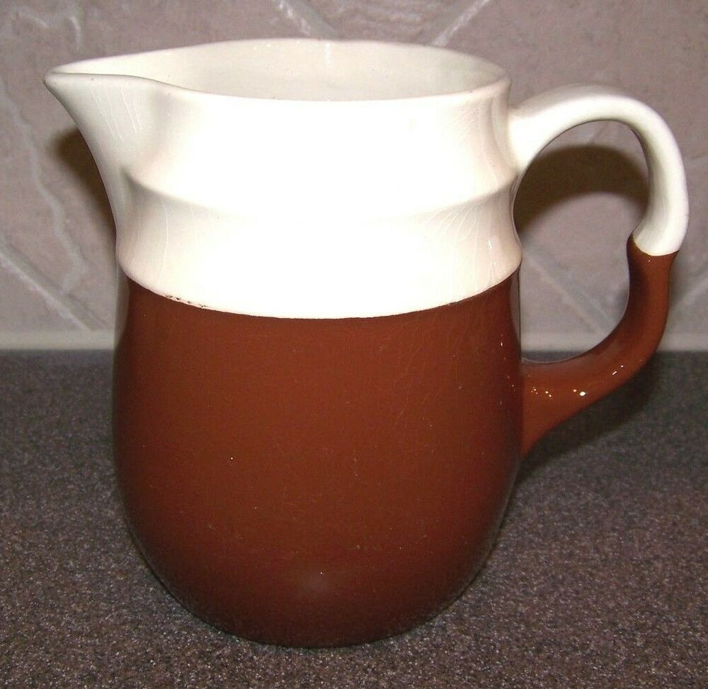 Vintage brown and white mccoy pitcher | eBay |Brown And White Pottery