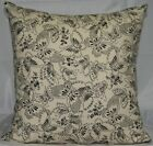 Black & Bone/Natural Butterflies Cushion Cover - NEW 40cm x 40cm