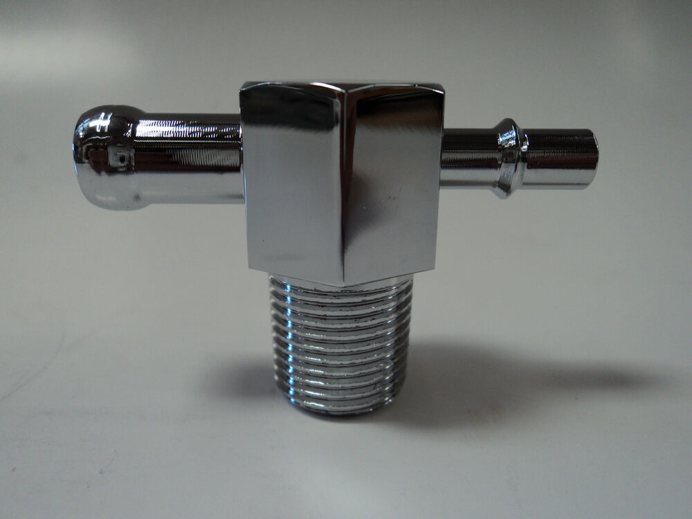 Quot chrome aluminum t fitting for intake
