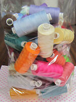 20 Assorted Reels Moon Polyester Sewing Thread Cotton 120s, 20 Assorted Colours