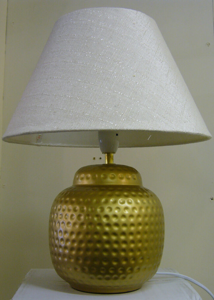 moroccan style ceramic table lamp in beaten gold colour. Black Bedroom Furniture Sets. Home Design Ideas