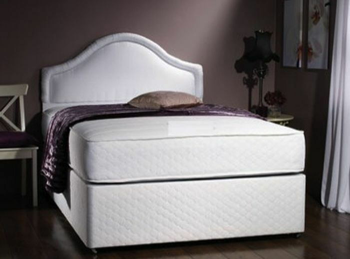 Single double super king size orthopaedic quilted divan for King size divan bed with mattress