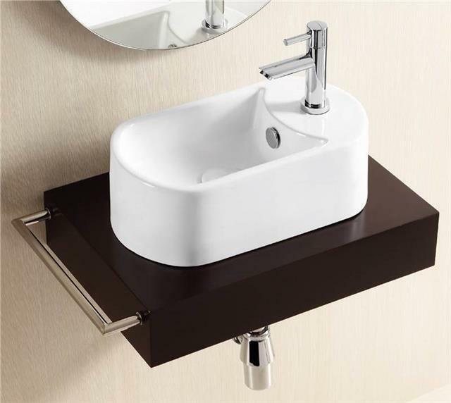 X narrow basin cloakroom sink countertop white bathroom washbasin ebay - Narrow cloakroom basin ...