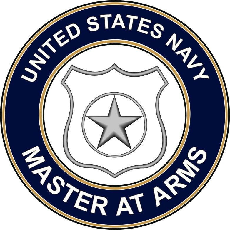 navy master at arms ma 3 8 die cut sticker 39 officially licensed 39 ebay. Black Bedroom Furniture Sets. Home Design Ideas