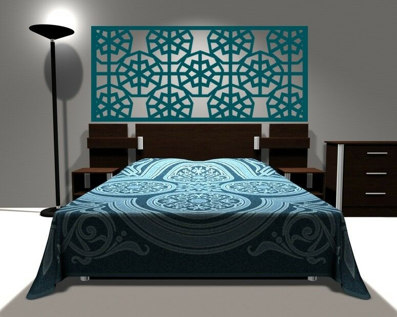 headboard wall decal geometric wall decal dorm headboard modern farmhouse ebay. Black Bedroom Furniture Sets. Home Design Ideas