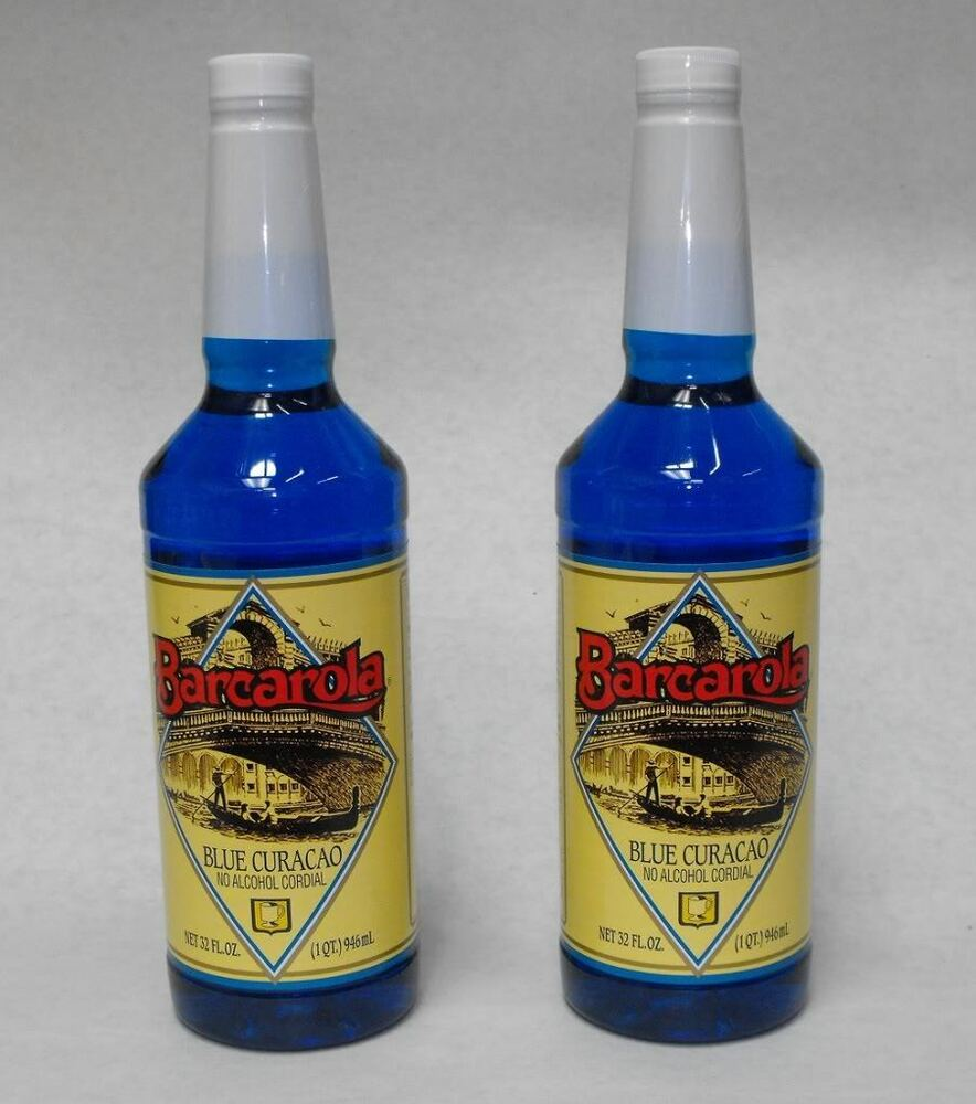 (2 Pack) Gourmet BLUE CURACAO SYRUP 32oz. Orange Drink