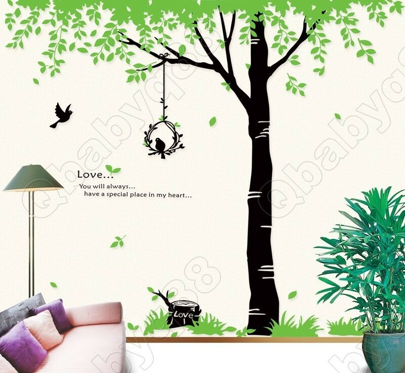 Giant Tree with love Wall decals Removable stickers decors