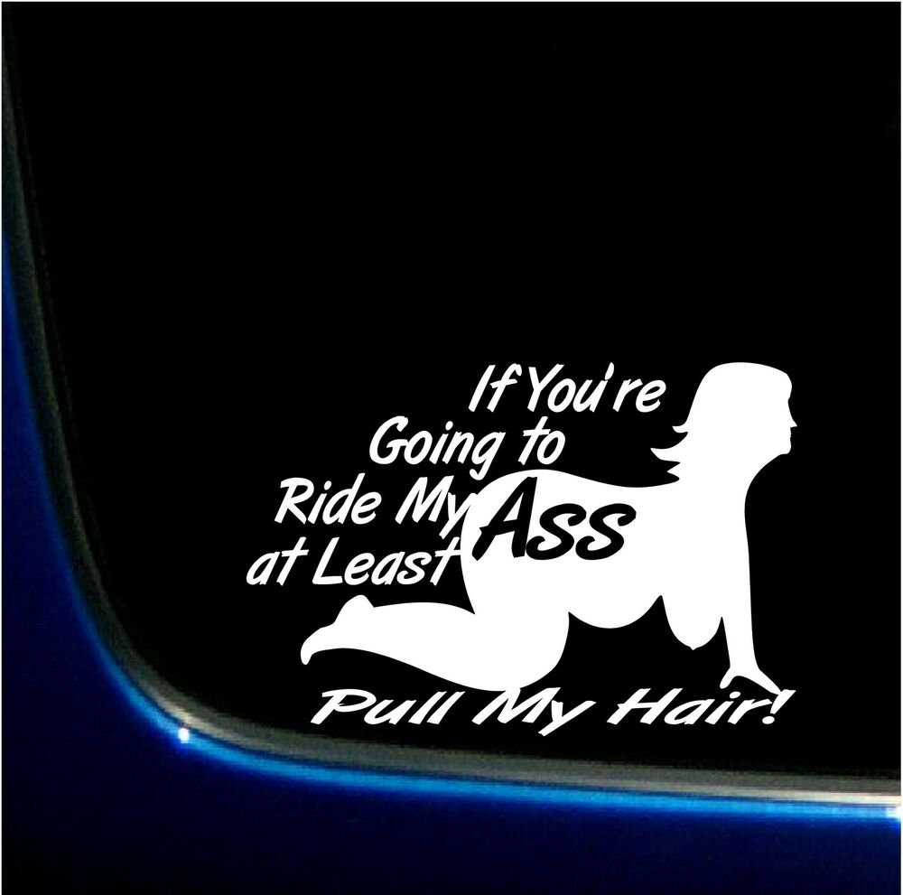RIDE MY ASS PULL MY HAIR SEXY FAT GIRLS GO BIG BBW VINYL GRAPHIC DECAL  STICKER | eBay