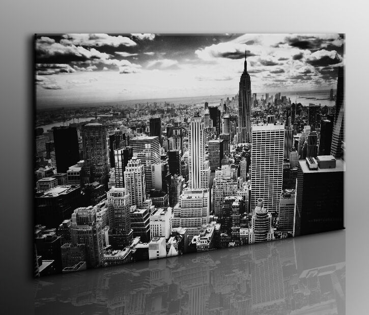 bild auf leinwand new york kunstdruck fotoleinwand 24 wandbild bilder k poster ebay. Black Bedroom Furniture Sets. Home Design Ideas