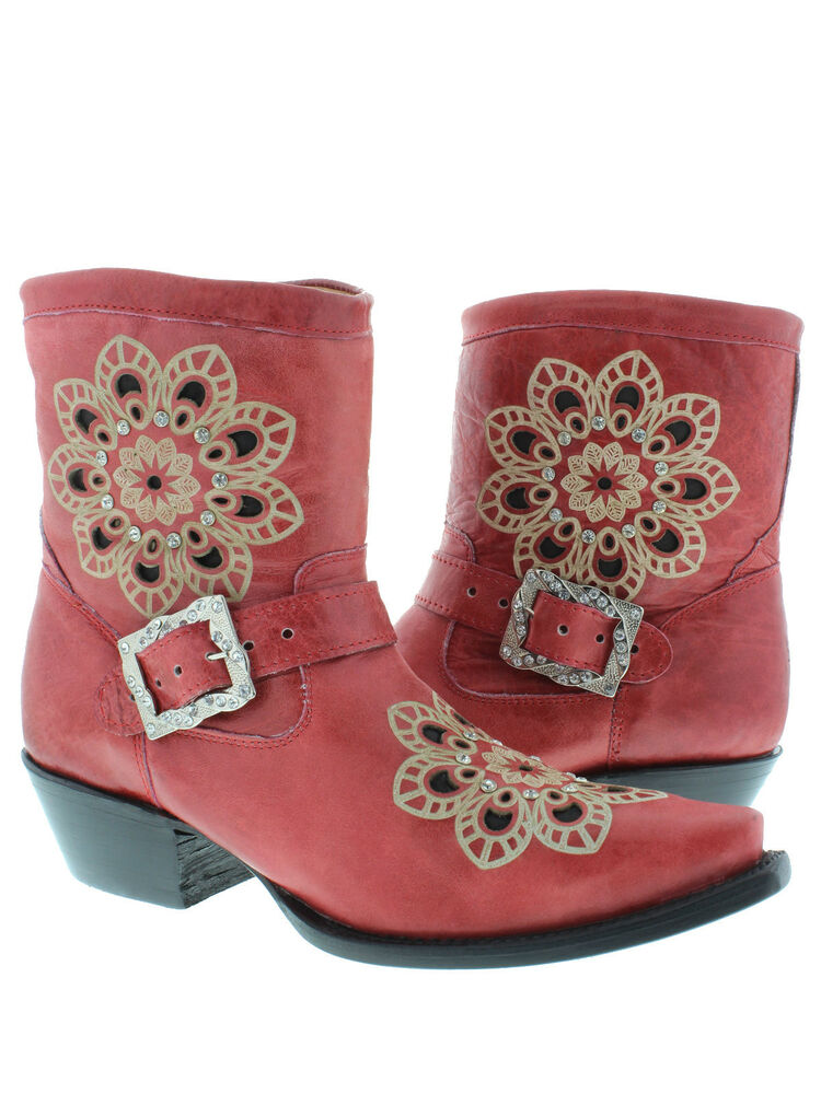 New Arrow Women Red Leather Boots U2013 32frgg