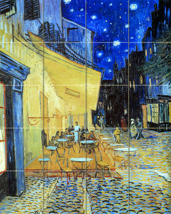Art mural ceramic paris van gogh backsplash tile 165 ebay for Mural van gogh