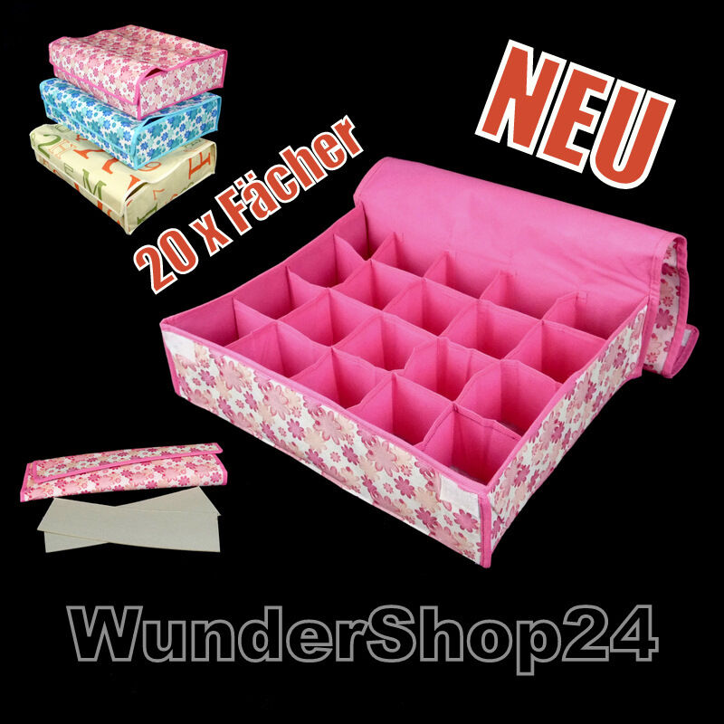 textil organizer aufbewahrungsbox 20 f cher aufbewahrung. Black Bedroom Furniture Sets. Home Design Ideas