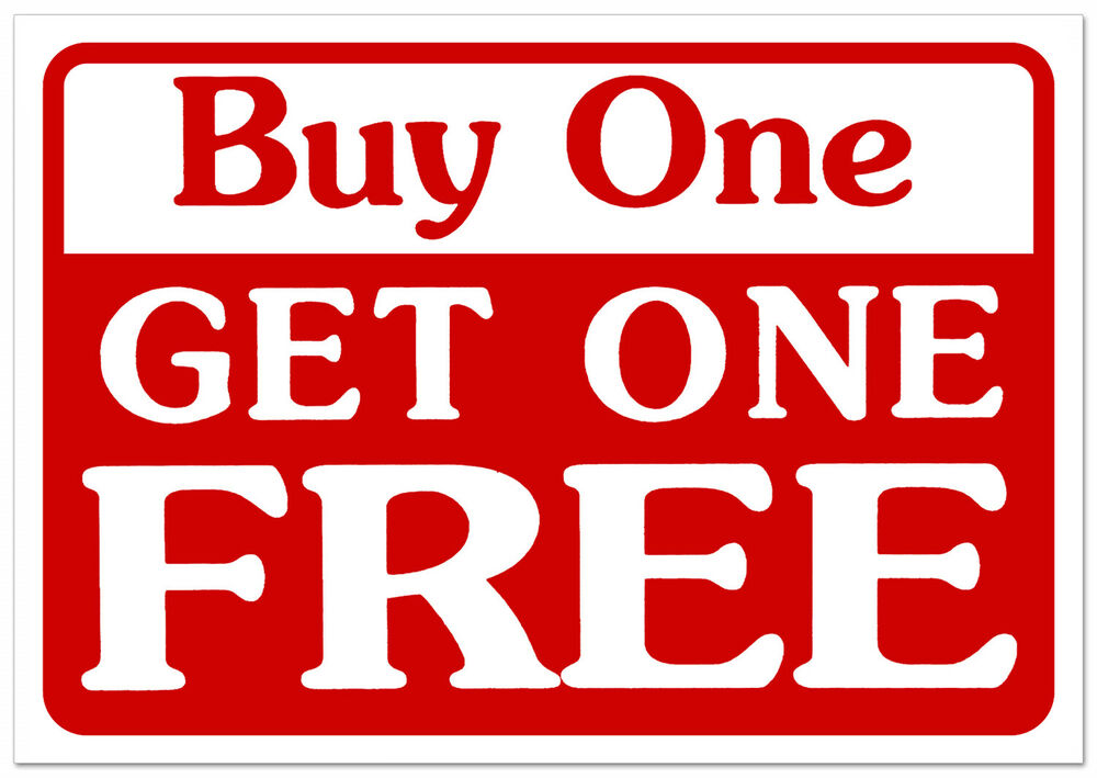 Buy one get one free retail store sale business discount for Buy cheap posters online