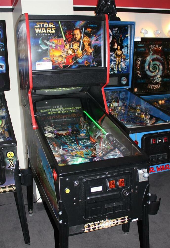 Star Wars Pinball Machine >> STAR WARS EPISODE I Pinball Machine - Williams 1999 ...