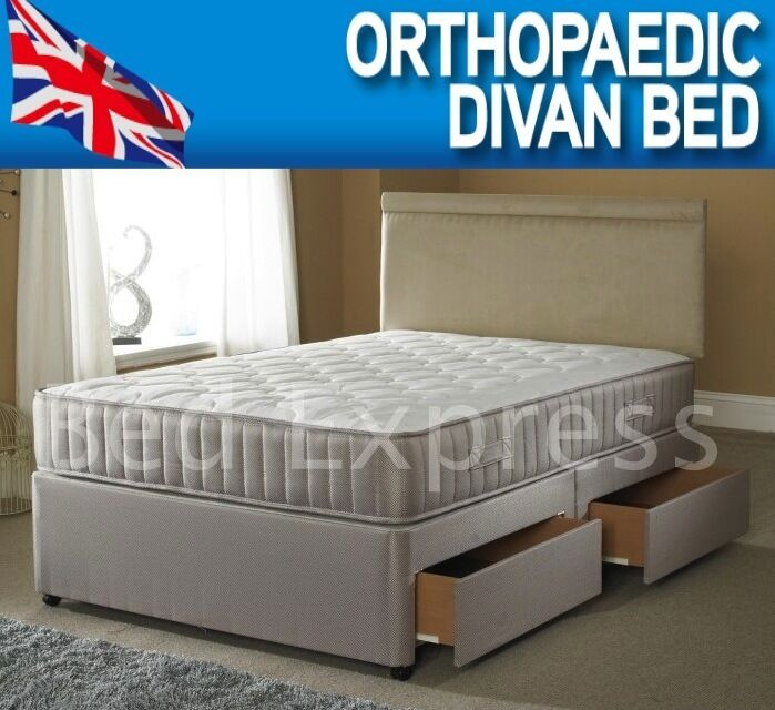 4ft small 4ft6 double orthopaedic divan bed 10 inch