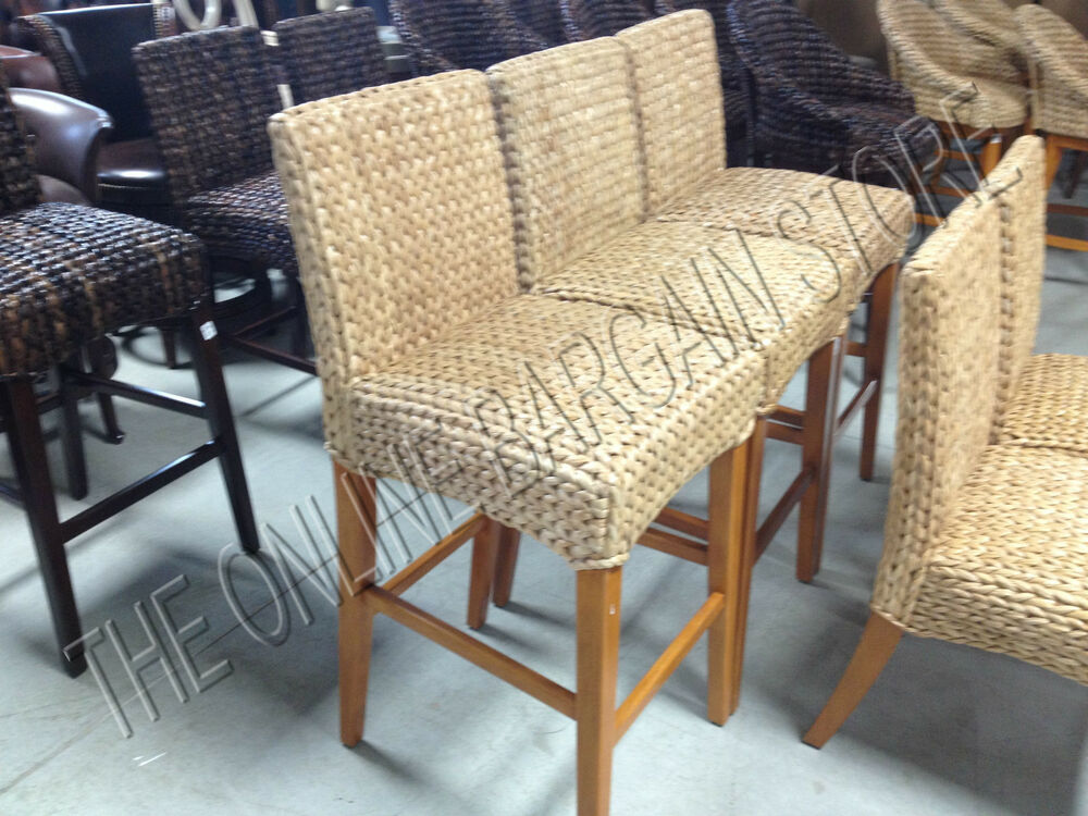 Pottery Barn Woven Seagrass Barstools Brown Honey Chair