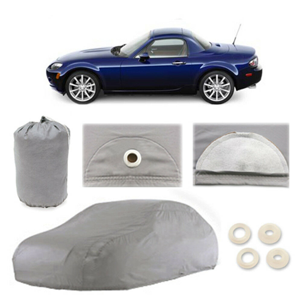 mazda mx 5 miata 4 layer car cover fitted outdoor water proof rain snow sun dust ebay. Black Bedroom Furniture Sets. Home Design Ideas
