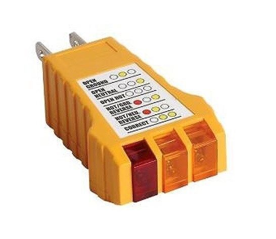 Electrical Receptacle Tester : Electrical outlet circuit safety tester vac receptacle