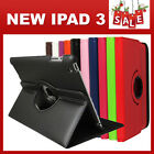 iPad 4 Gen 4, 3, 2 360° Rotate Smart Leather Cover Case Stand Auto Sleep Wake up