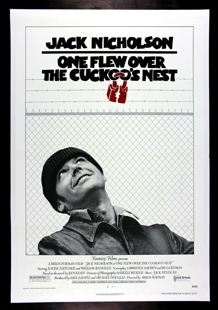 a review of the story of one flew over the cuckoos nest Based on the novel by ken kesey, the story follows randle patrick mcmurphy (jack nicholson), who, in an attempt to get out of spending more time in prison, pleads insanity for his crime, and is therefore sentenced to time in a mental institution.