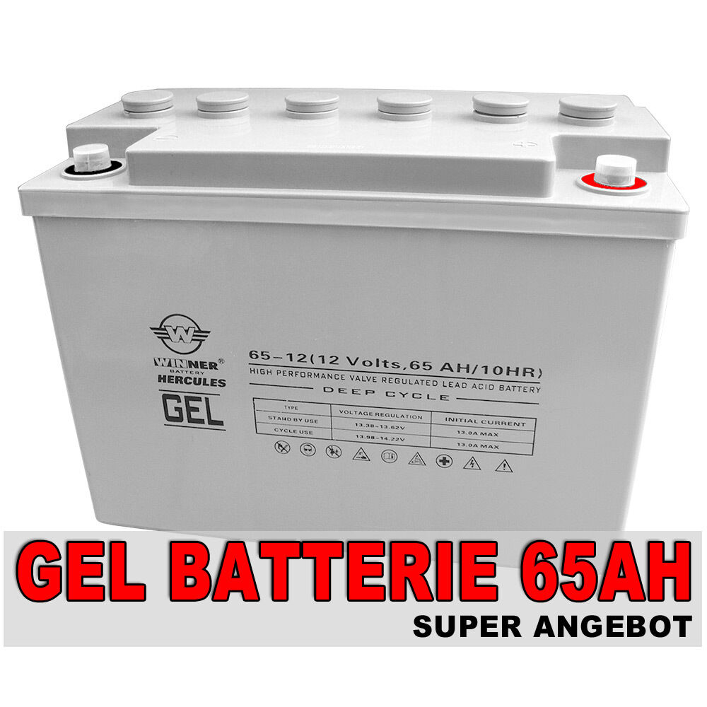 akku 65ah gel batterie boot wohnmobil solarbatterie. Black Bedroom Furniture Sets. Home Design Ideas