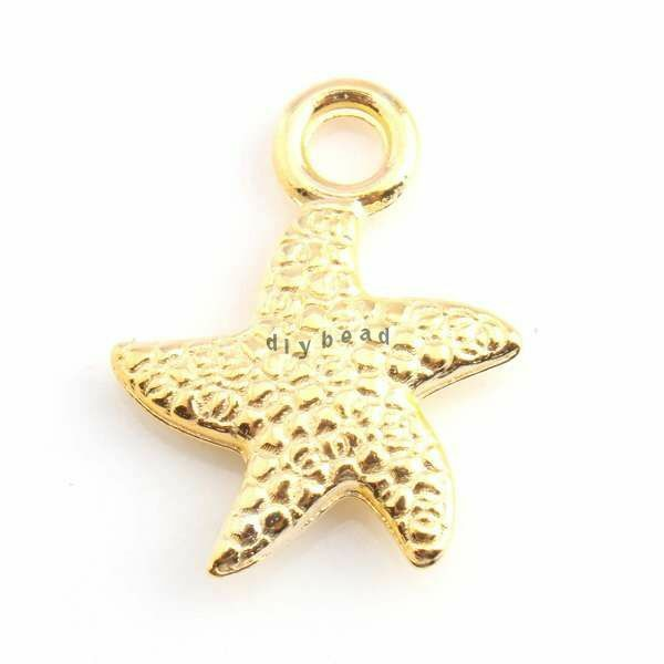 60x 143735 new wholesale charms gold fish alloy