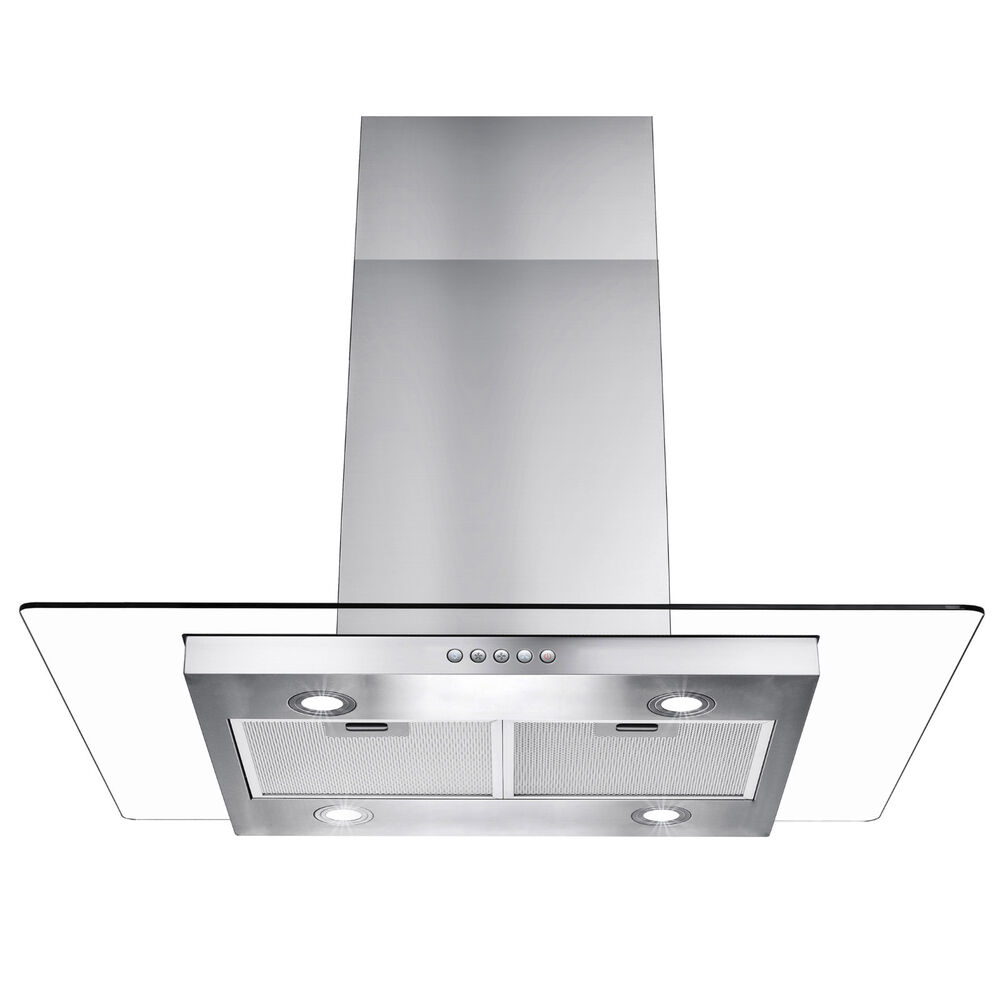 36 kitchen stainless steel island mount range vent hood for Best vent hoods review
